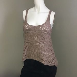 Harlow crochet racer back tank top